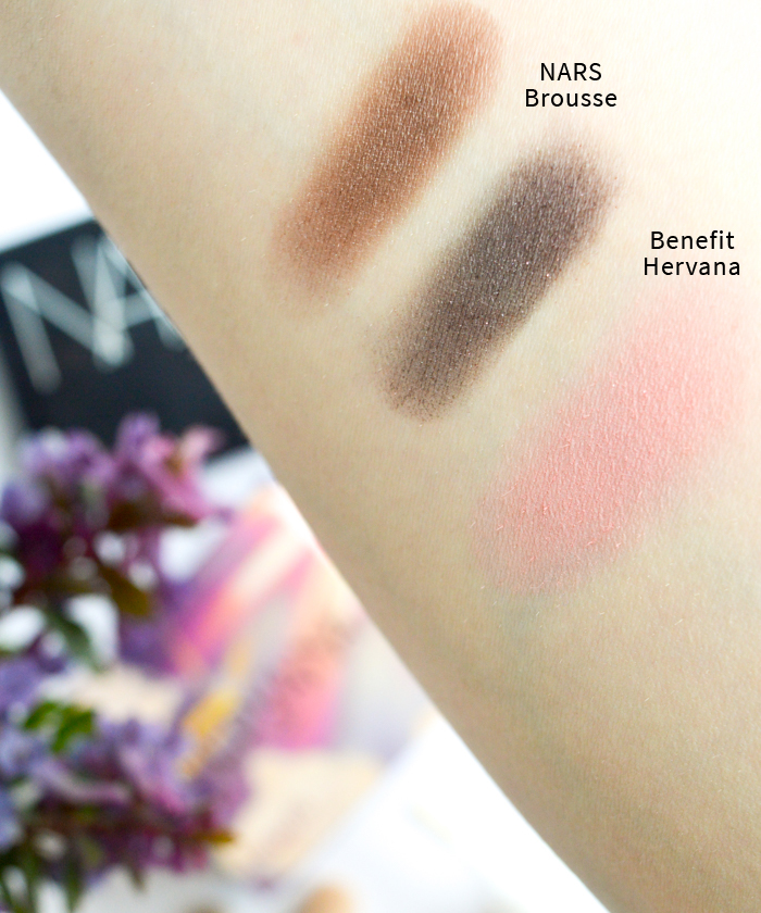 nars brousse_benefit hervana_swatch